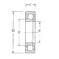 65 mm x 140 mm x 33 mm  FBJ NUP313 cylindrical roller bearings