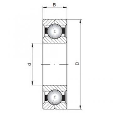 ISO Q203 angular contact ball bearings