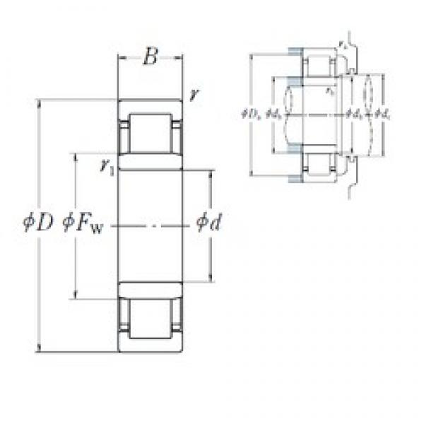 50 mm x 90 mm x 20 mm  NSK NU 210 EW cylindrical roller bearings #1 image