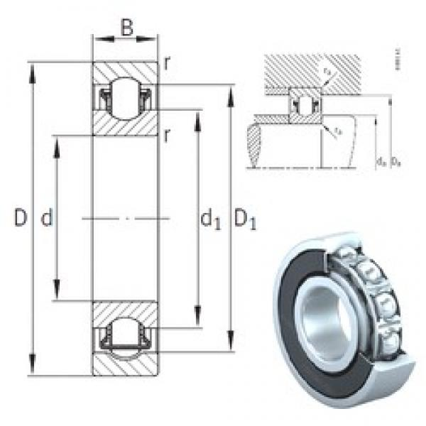 17 mm x 40 mm x 12 mm  INA BXRE203-2HRS needle roller bearings #1 image