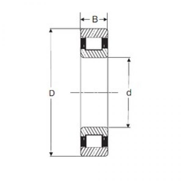 40 mm x 80 mm x 23 mm  SIGMA N 2208 cylindrical roller bearings #1 image