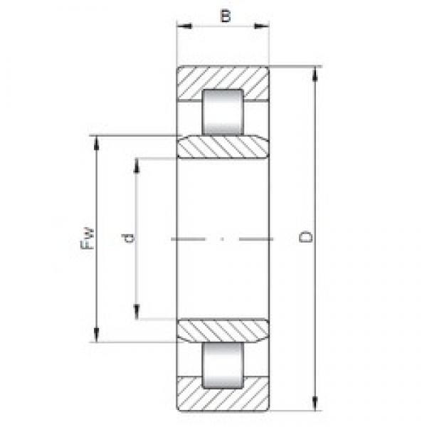 40 mm x 80 mm x 23 mm  ISO NU2208 cylindrical roller bearings #1 image