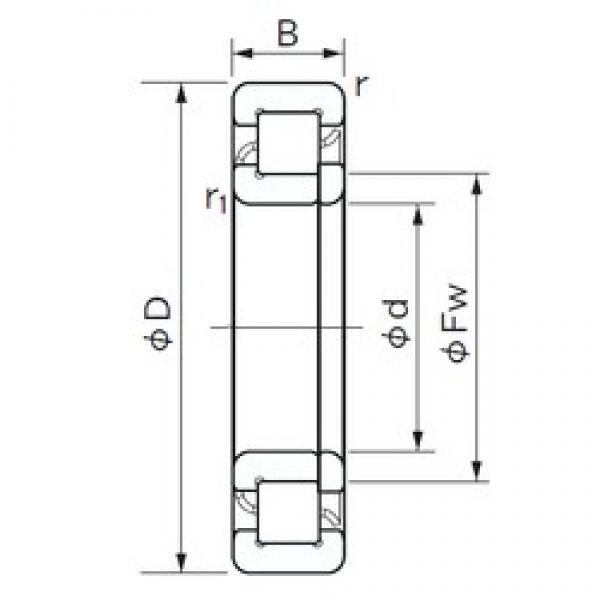 40 mm x 80 mm x 23 mm  NACHI NUP 2208 cylindrical roller bearings #1 image
