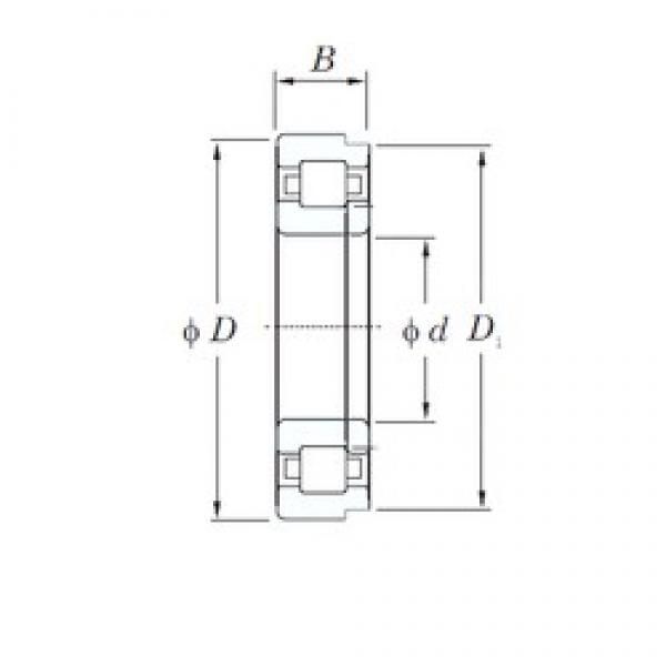40 mm x 80 mm x 23 mm  KOYO NUP2208 cylindrical roller bearings #1 image