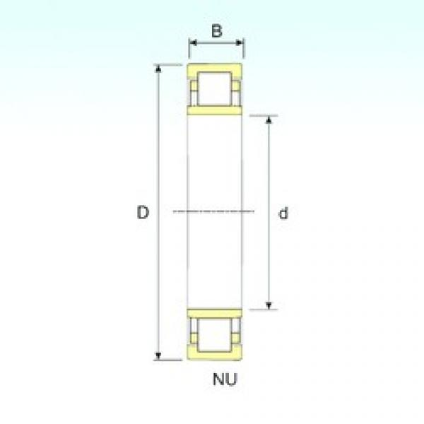 90 mm x 190 mm x 43 mm  ISB NU 318 cylindrical roller bearings #1 image